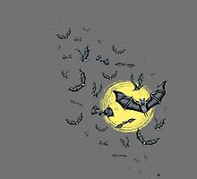 Bat Swarm (Shirt) by _ VectorInk