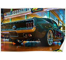 1967 Green Mustang Poster