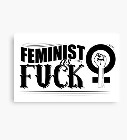 Feminist as fuck fancy type Canvas Print