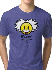 Einstein Smiley + E=mc² Tri-blend T-Shirt
