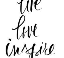 Live, Love, Inspire Sticker