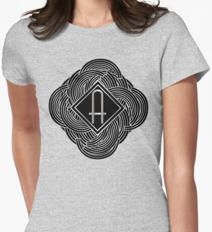 1920s Jazz Deco Swing Monogram black & silver letter A Womens Fitted T-Shirt