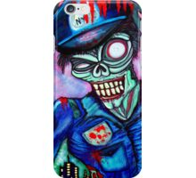 Zombie Cop (Horror Comics, Zombies) iPhone Case/Skin