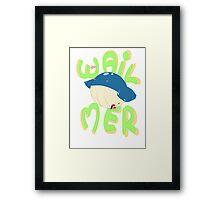 Wailmer love Framed Print