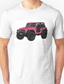 Pink two door Jeep wrangler T-Shirt
