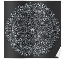 Inverse Crown And Vine Mandala | Made For Color Poster