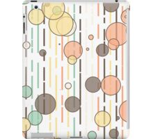 Circles and lines iPad Case/Skin