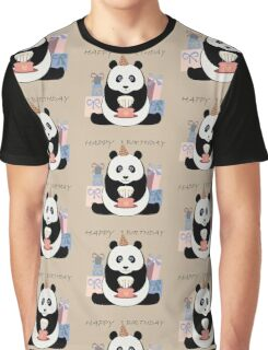 PANDA HAPPY BIRTHDAY Graphic T-Shirt