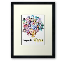 League Of Cats <3 Framed Print