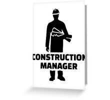 Construction manager Greeting Card