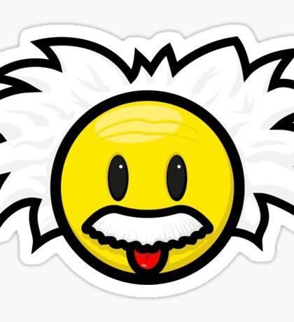 Einstein Smiley Sticker