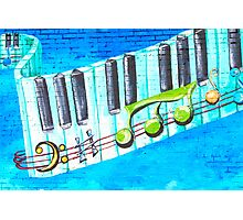 Musical Notes in Deep Ellum II Photographic Print