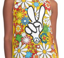 Flower, Power & Peace Contrast Tank