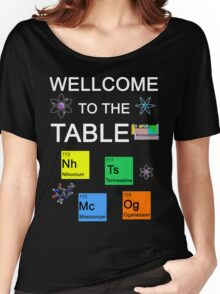 Periodic Table new elements: Nihonium, Tennessine, Moscovium, Oganesson (B) Women's Relaxed Fit T-Shirt