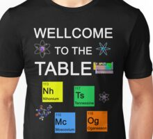 Periodic Table new elements: Nihonium, Tennessine, Moscovium, Oganesson (B) Unisex T-Shirt