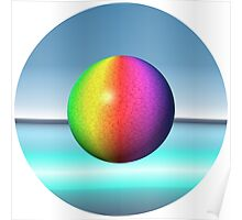 colorful sphere Poster