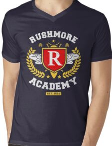 Rushmore Academy T-Shirt Mens V-Neck T-Shirt