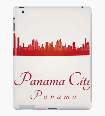 Panama City skyline in red iPad Case/Skin