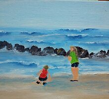 Girls on the Beach by Diane M. Lowe