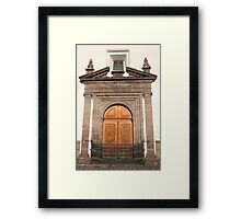 Carved Wooden Church Door Framed Print