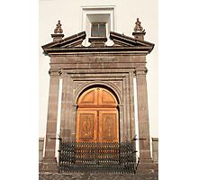 Carved Wooden Church Door Photographic Print