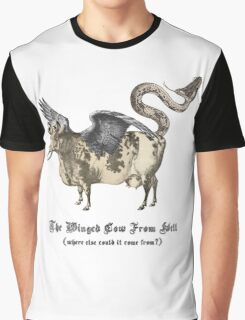 The Winged Cow From Hell Graphic T-Shirt