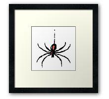 Artistic black widow spider ipad case Framed Print