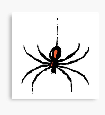 Artistic black widow spider ipad case Canvas Print