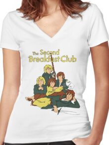Second Breakfast Women's Fitted V-Neck T-Shirt