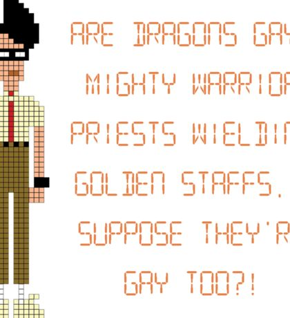 The IT Crowd – Are Dragons Gay? Sticker