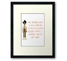 The IT Crowd – Are Dragons Gay? Framed Print