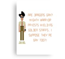The IT Crowd – Are Dragons Gay? Canvas Print