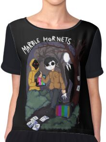 Marble Hornets Chiffon Top