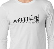 Evolution scaffolder Long Sleeve T-Shirt