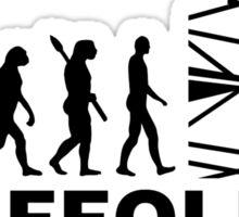 Evolution scaffolder Sticker