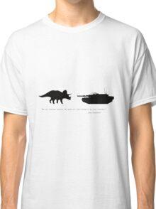 Lonely Dinosaur Meets Tank Classic T-Shirt