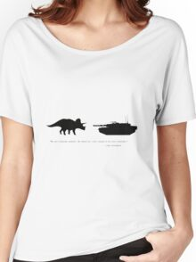 Lonely Dinosaur Meets Tank Women's Relaxed Fit T-Shirt