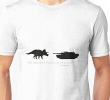 Lonely Dinosaur Meets Tank Unisex T-Shirt
