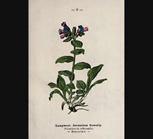 Wayside and woodland blossoms a pocket guide to British wild flowers for the country rambler  by Edward Step 1895 009 Lungwort Jerusalem Cowslip Unisex T-Shirt
