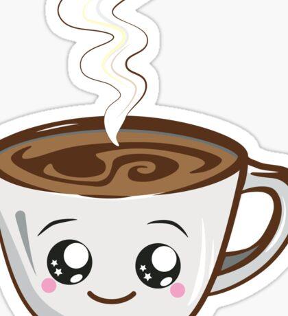 Single kawaii cup of Coffee Sticker