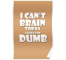 i Cant Brain Today..I have the Dumb Poster
