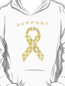 Animal Cancer Awareness Ribbon T-Shirt