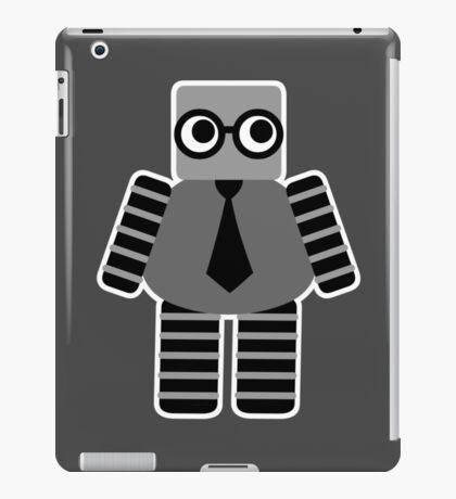 Cute Grey Geeky Robot iPad Case/Skin