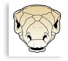 Ankylosaur skull Canvas Print