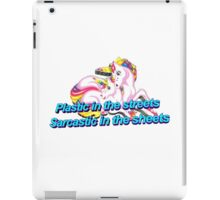 Plastic In the Streets Sarcastic In the Sheets Unicorn iPad Case/Skin