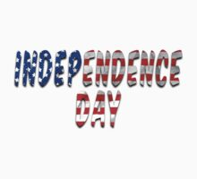 Independence Day Words With USA Flag Texture One Piece - Short Sleeve