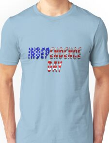 Independence Day Words With USA Flag Texture Unisex T-Shirt