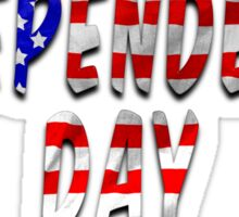 Independence Day Words With USA Flag Texture Sticker