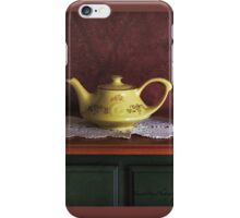 Vintage Yellow Tea Set - Selected in Solo Exhibition women in the arts iPhone Case/Skin