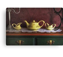 Vintage Yellow Tea Set - Selected in Solo Exhibition women in the arts Canvas Print